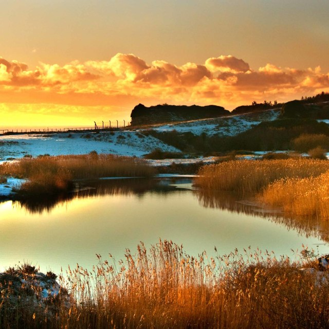 """""""Sunset at Rhoos Point"""" stock image"""
