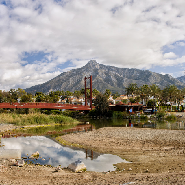 """Bridge on Green River in Marbella"" stock image"