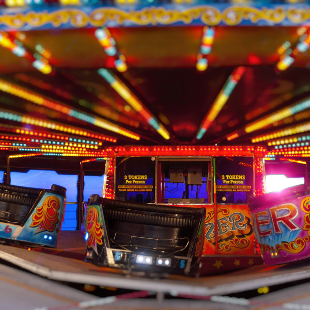 """Waltzer Fairground Ride"" stock image"