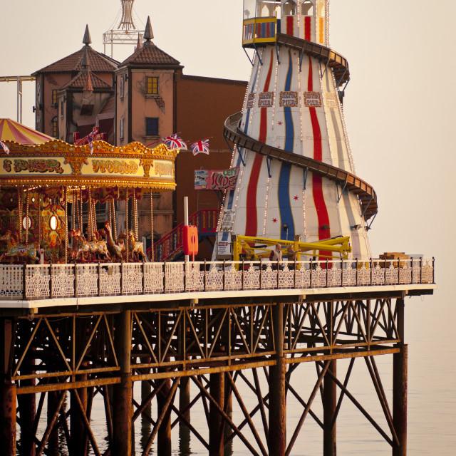 """""""End of Brighton Pier, Brighton, Sussex, Britain"""" stock image"""