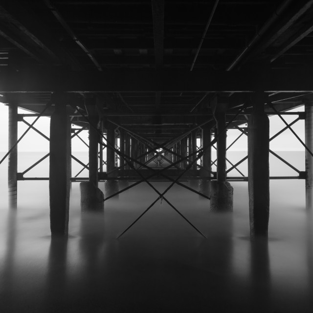 """Below the pier"" stock image"