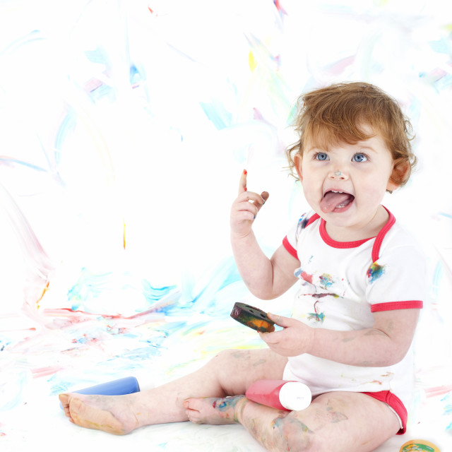 """playing with paint"" stock image"