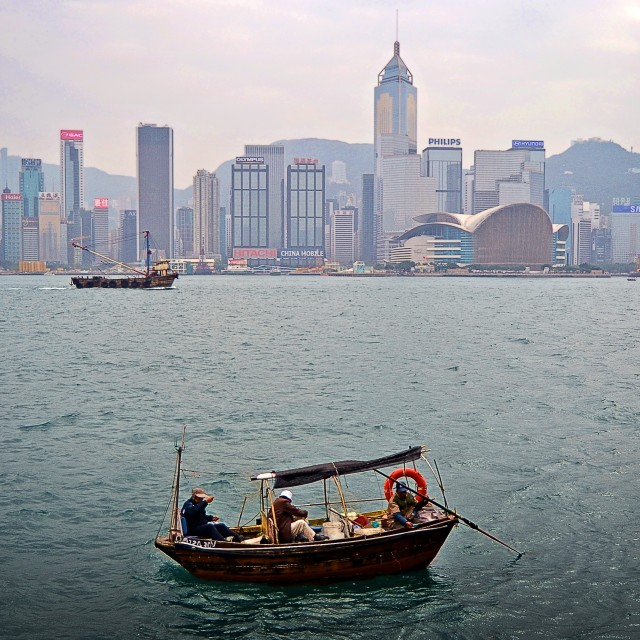 """Tsim Sha Tsui, Hong Kong, China"" stock image"