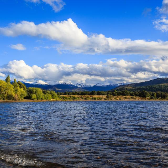 """Lago Lolog Parque Nacional Lanin"" stock image"
