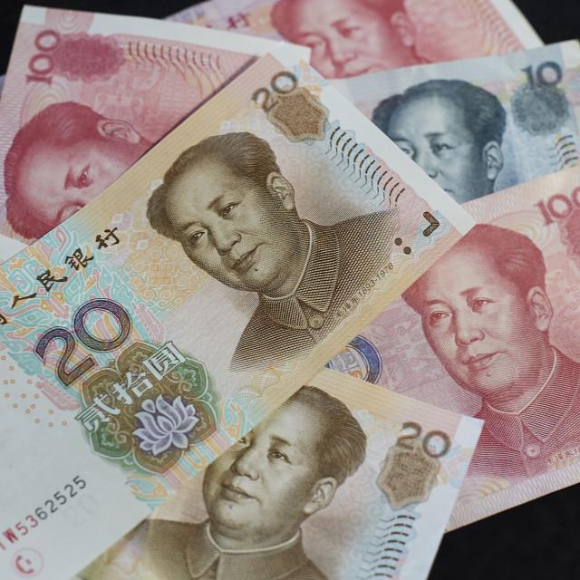 """Chinese Currency - Renminbi Kuai Yuan CNY RMB"" stock image"