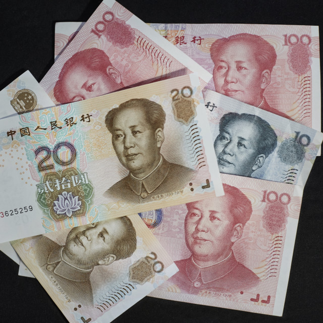 """Chinese Currency - Renminbi Kuai Yuan CNY RMB"" stock image"