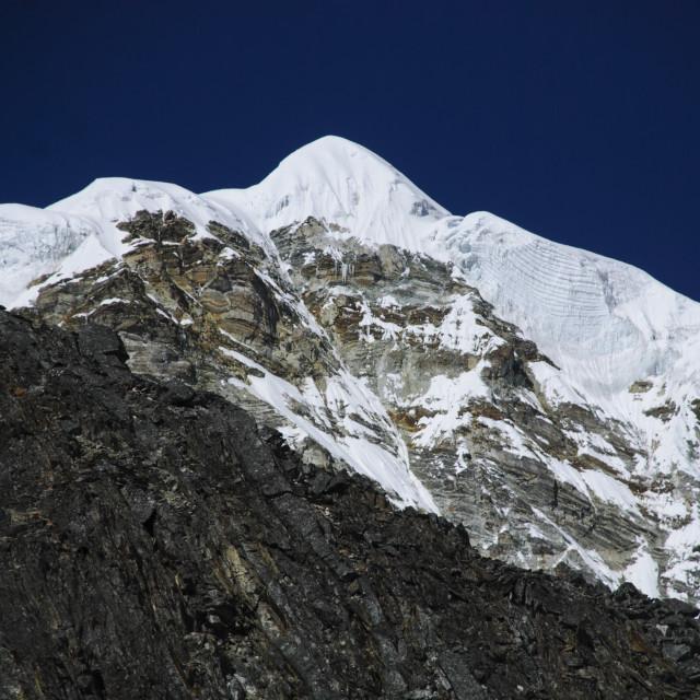 """Snow capped Himalayan peak"" stock image"