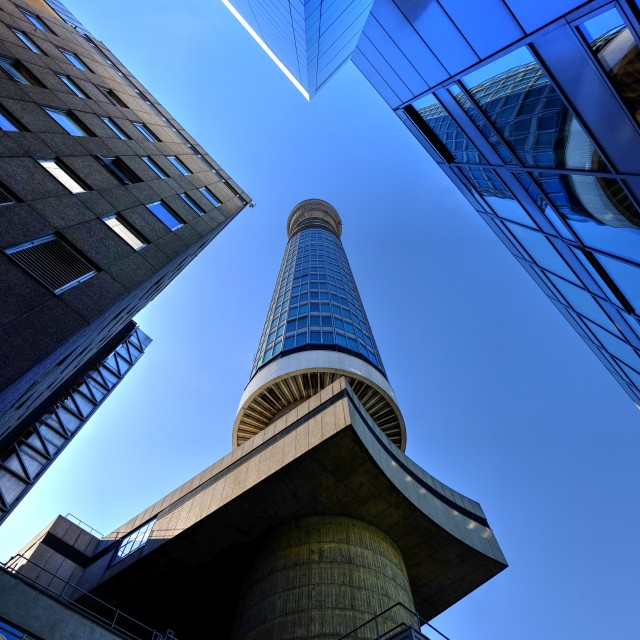 """The BT tower."" stock image"