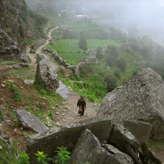 """Monsoon in Nepal"" stock image"