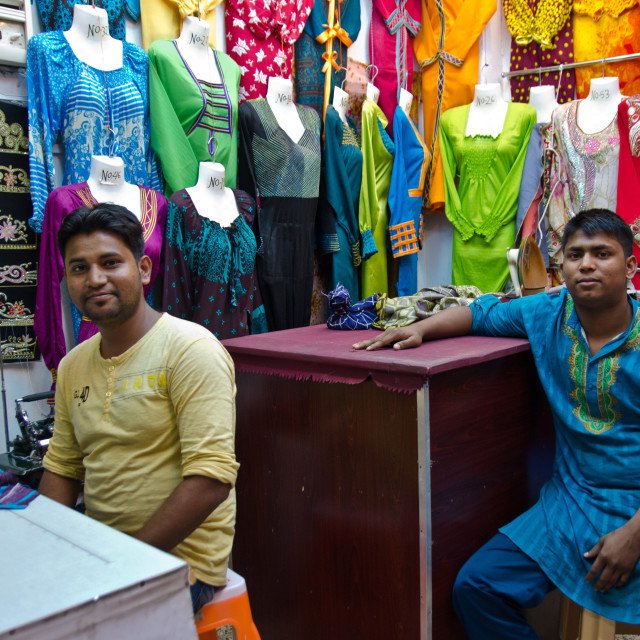 """Colourful tailors"" stock image"