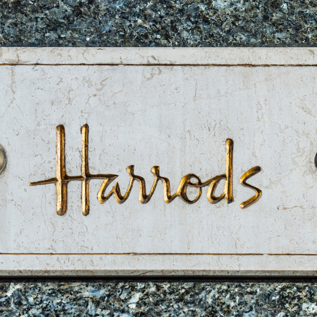 """Harrods"" stock image"