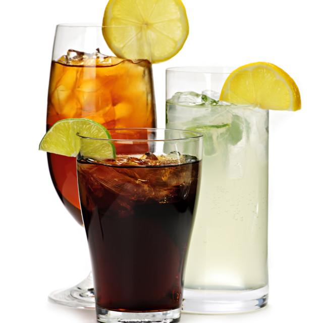 """Soft drinks"" stock image"