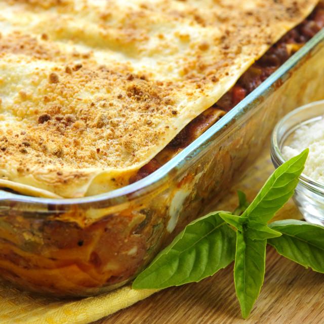 """Lasagna"" stock image"