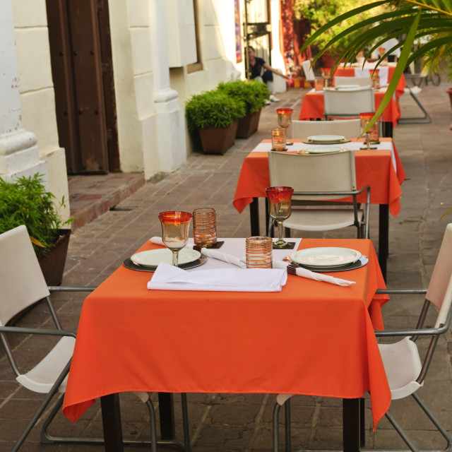"""Restaurant patio"" stock image"