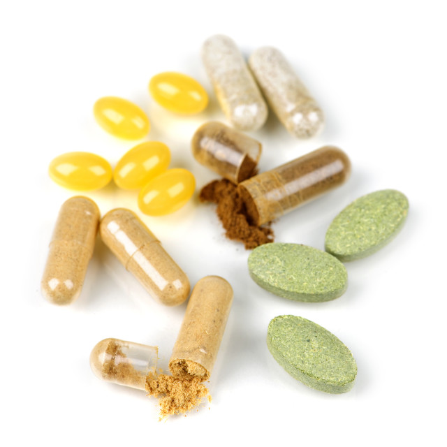"""Herbal supplement pills"" stock image"