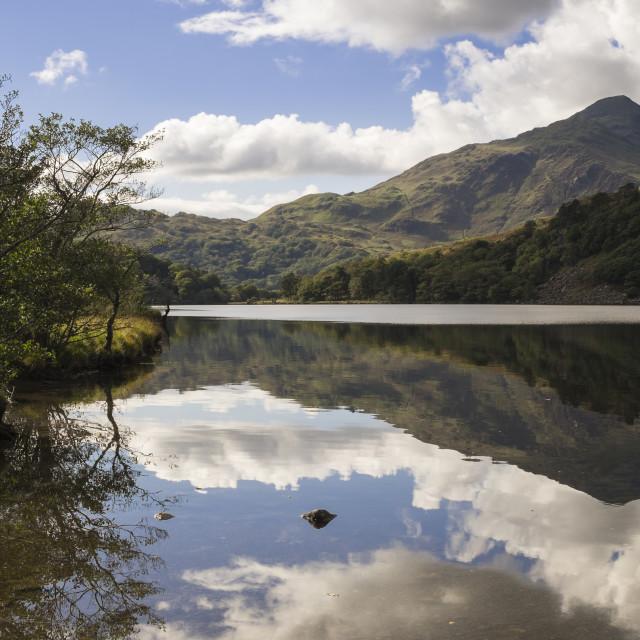 """""""Llyn Gwynant Snowdonia"""" stock image"""