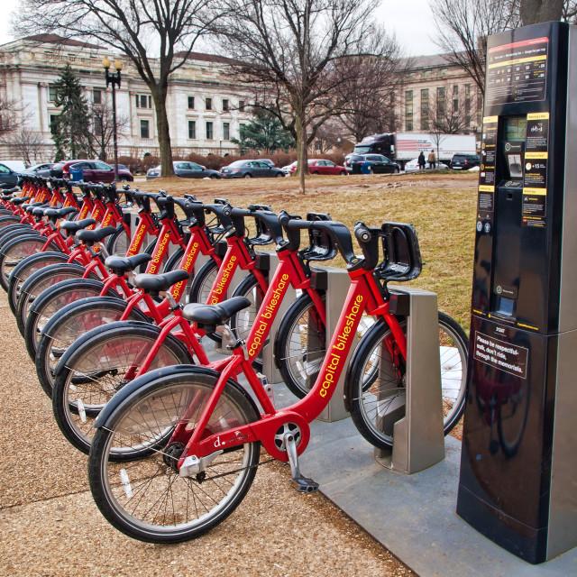 """""""Capitol Bikeshare"""" stock image"""