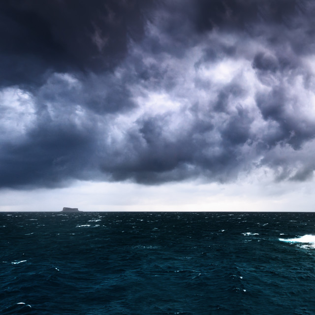 """Filfla Panorama on a stormy afternoon"" stock image"