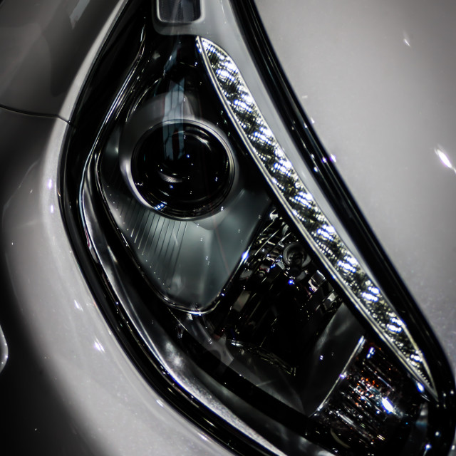 """Detail: Headlamp 1"" stock image"