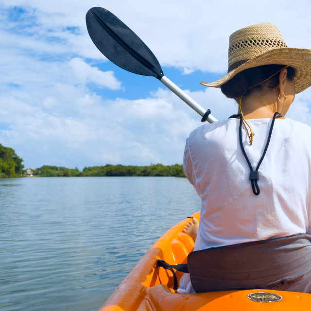 """Kayaking"" stock image"