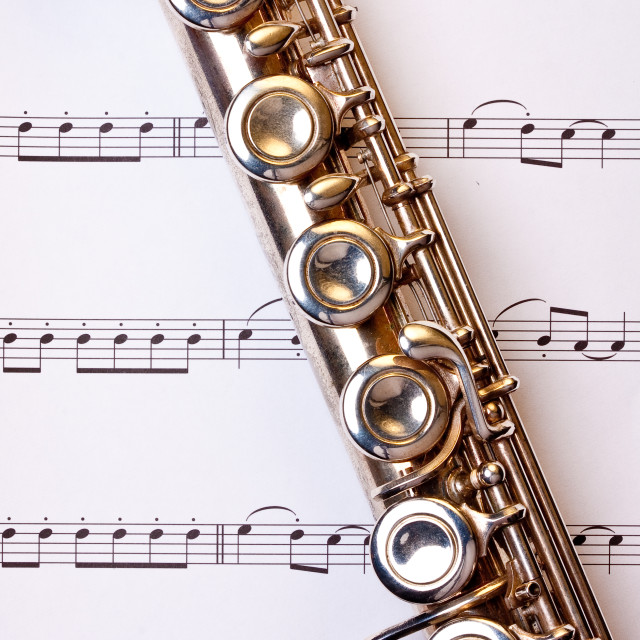 """Flute and Music"" stock image"