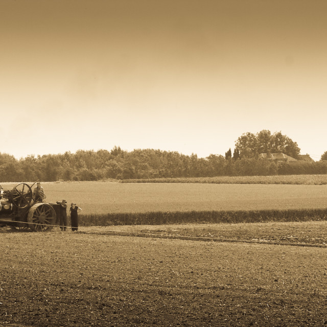 """""""Ploughing by steam"""" stock image"""