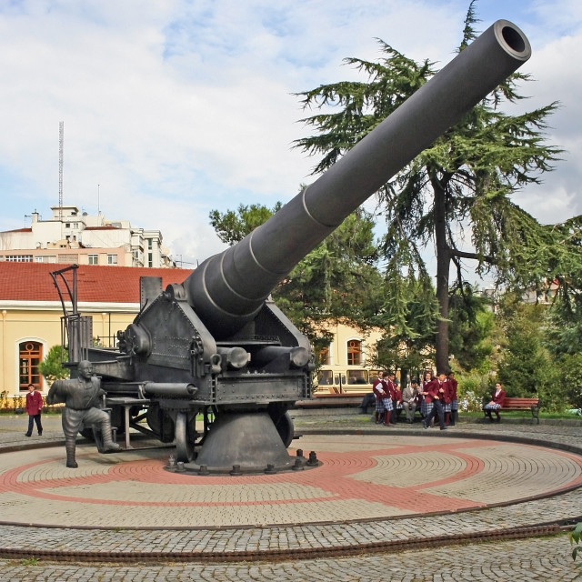 """Giant Cannon in Istanbul War Museum"" stock image"