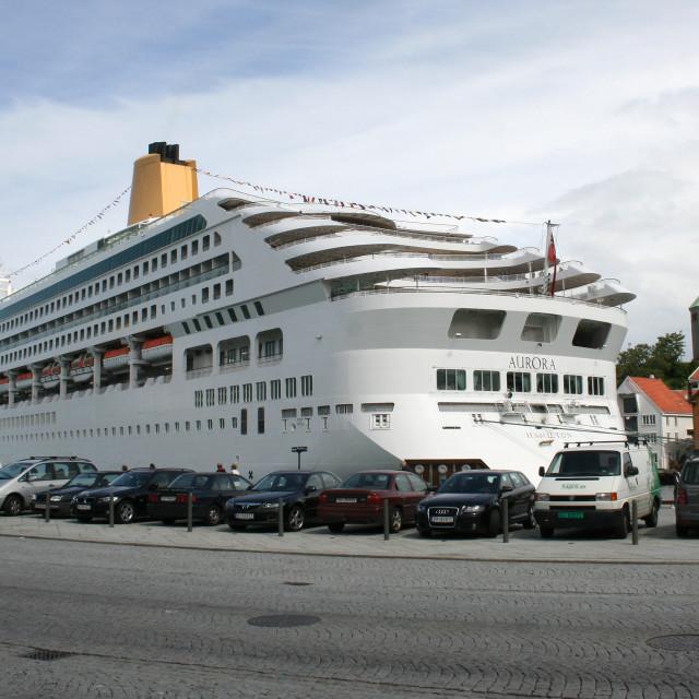 """Aurora at Stavanger"" stock image"