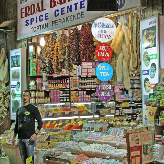 """""""Spice Stall, Istanbul Spice Market"""" stock image"""