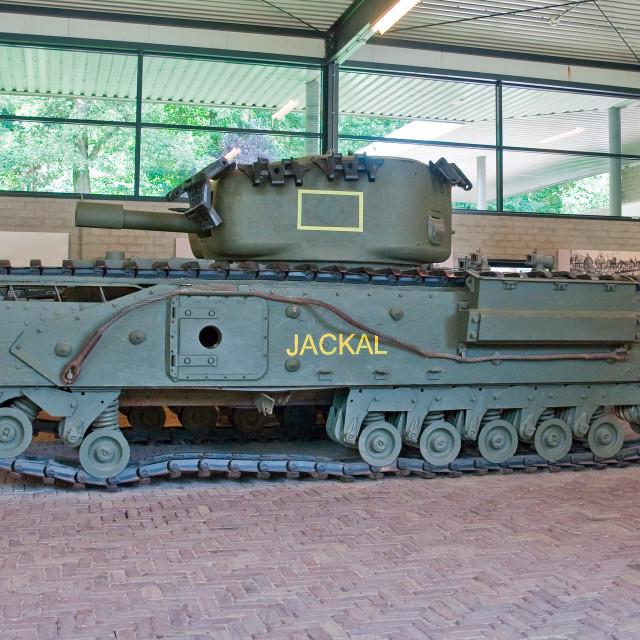 """Churchill Tank WWII"" stock image"