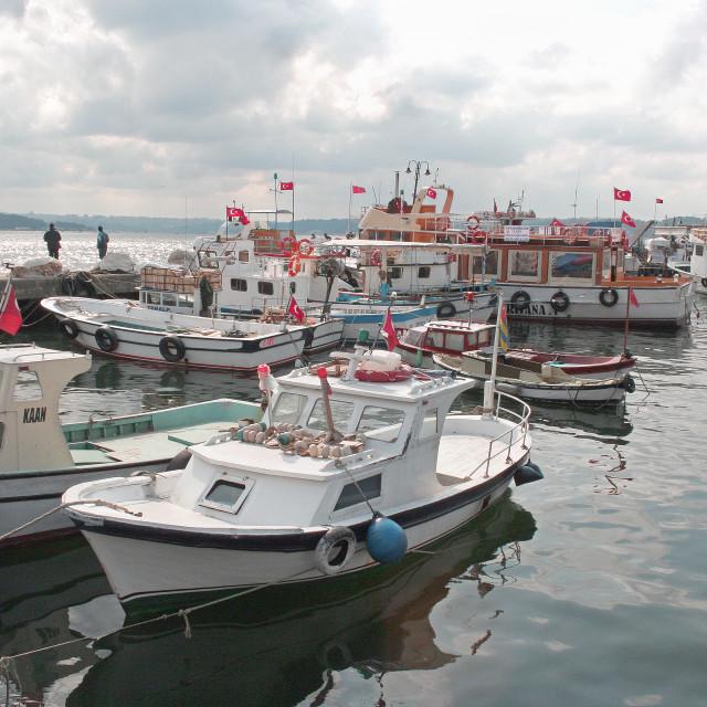 """Sariyer Harbour, Bosphorus, Turkey"" stock image"