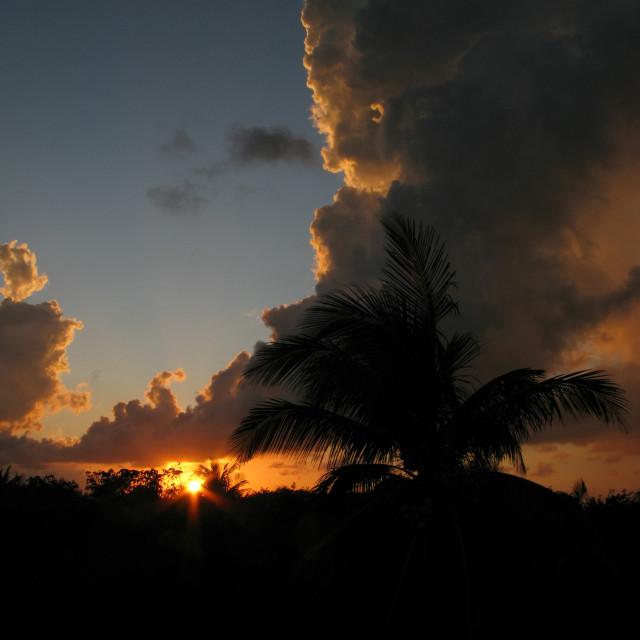 """""""Cuba Sunrise"""" stock image"""