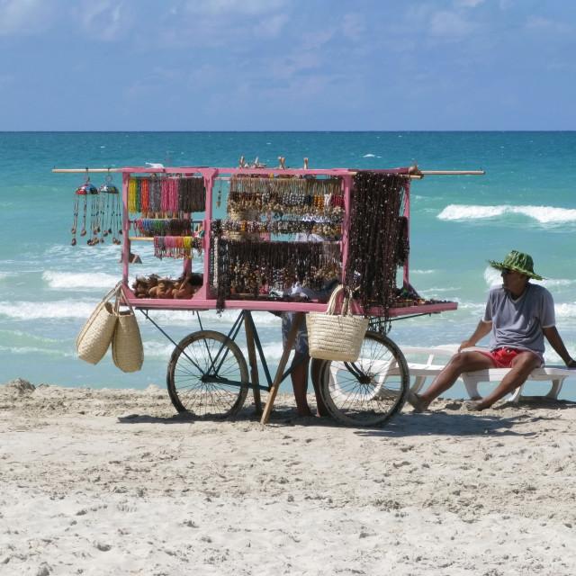 """""""beach seller"""" stock image"""