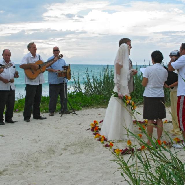"""beach Wedding"" stock image"