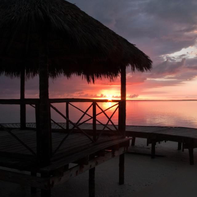 """Cuban sunrise"" stock image"