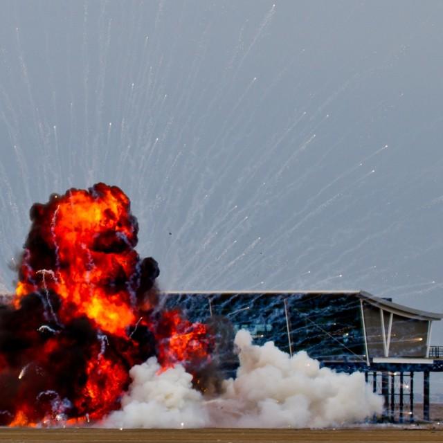 """Tornado explosion"" stock image"