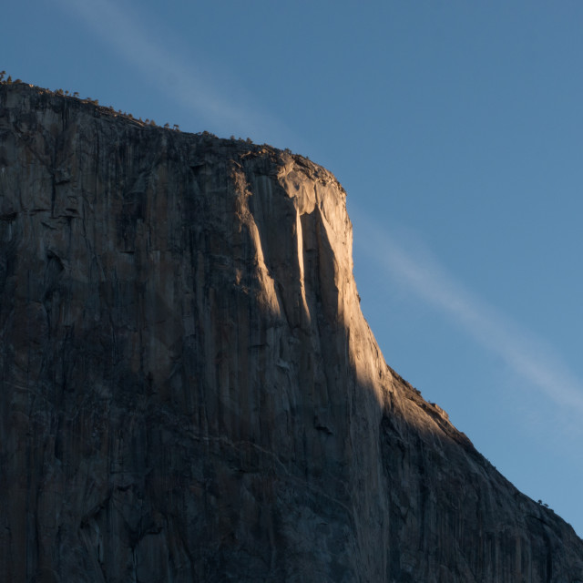"""El Capitan (detail), Yosemite at Sunrise"" stock image"