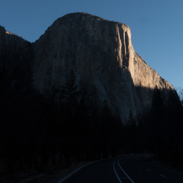 """El Capitan at Sunrise, Yosemite National Park"" stock image"