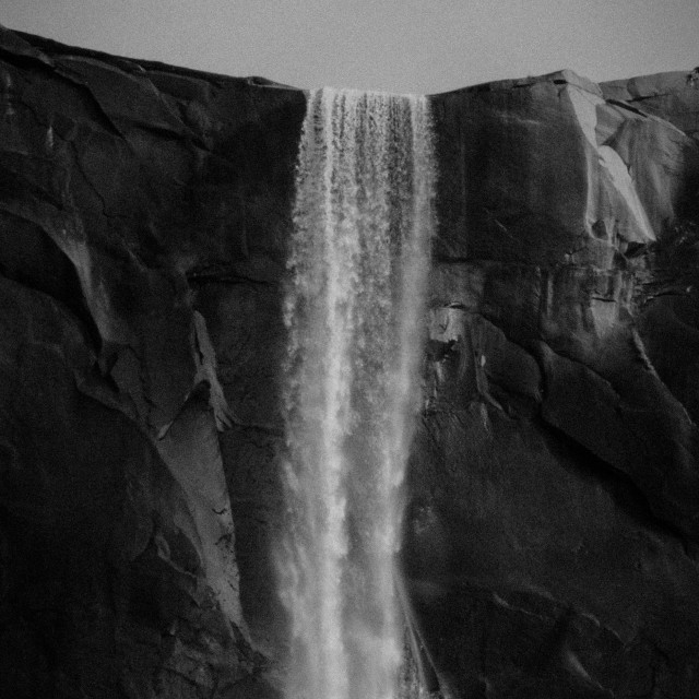 """Waterfall (detail) (B&W)"" stock image"
