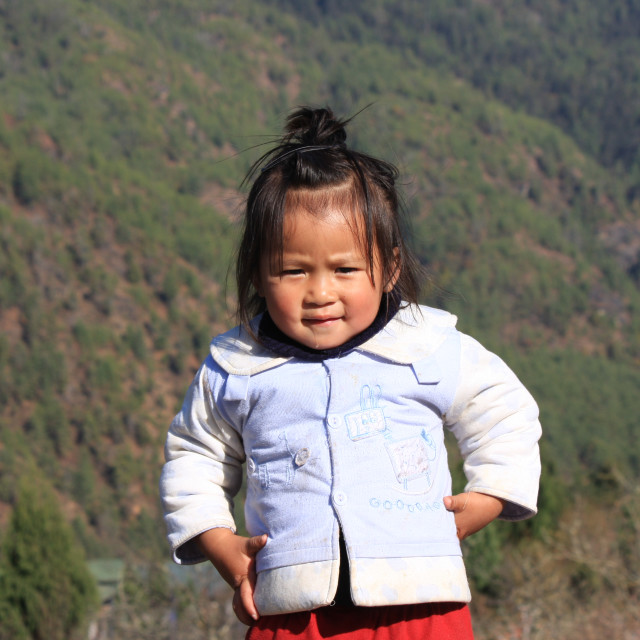 """Bhutanese child"" stock image"