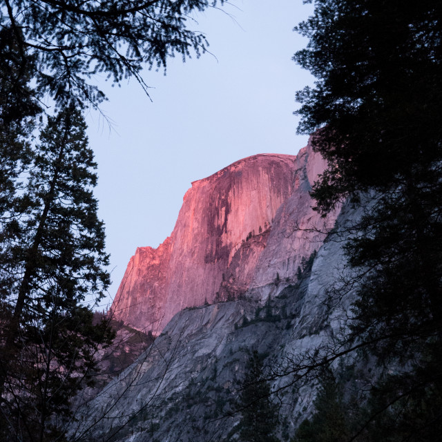 """Sunset on Half Dome, Yosemite"" stock image"