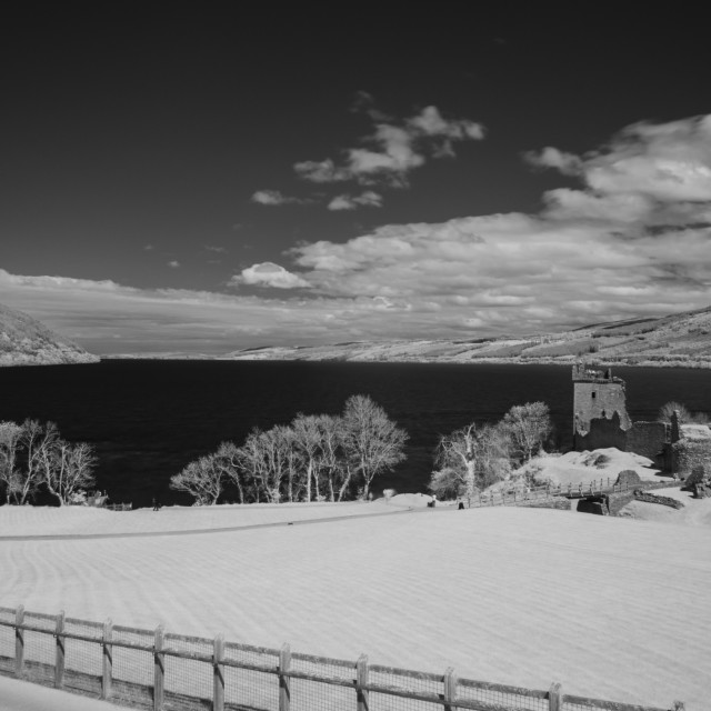 """Loch Ness in Infrared"" stock image"