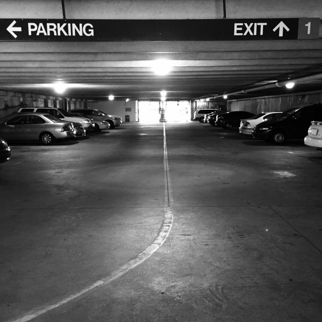 """Parking Exit"" stock image"