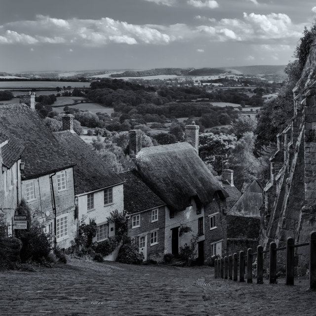 """Gold Hill, Dorset"" stock image"