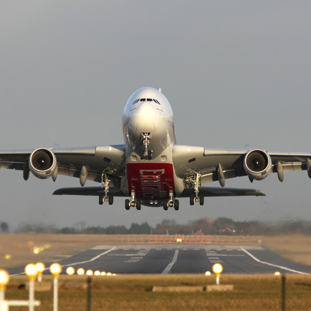 """Emirates A380-861 A6-EDH"" stock image"