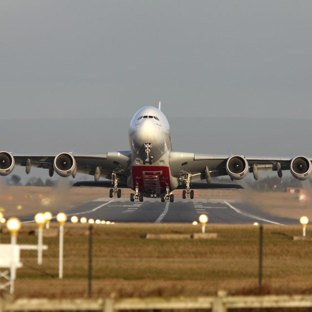 """Emirates A380-861 A6-EDH"" stock image"