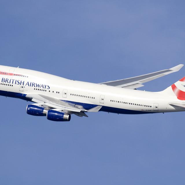 """""""British Airways 747-436 G-CIVF"""" stock image"""