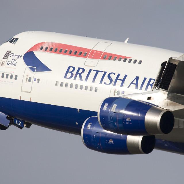 """""""British Airways 747-436"""" stock image"""