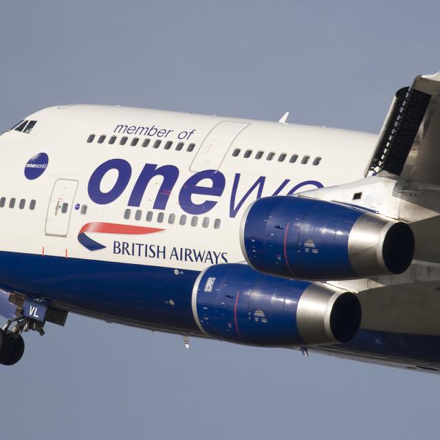 """""""British Airways 747-436 G-CIVL"""" stock image"""
