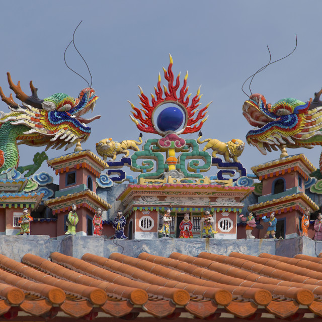 """""""Tiled Temple tableau"""" stock image"""